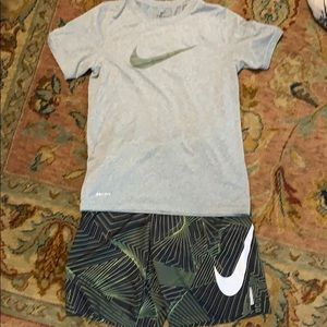 Boys size medium Nike shorts and shirt
